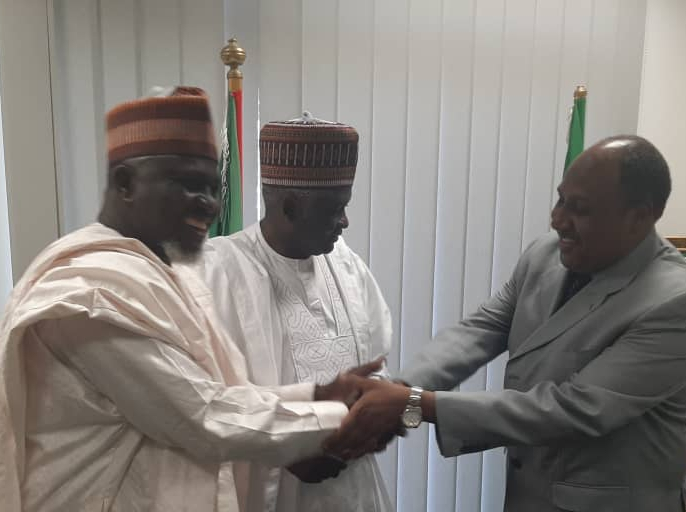 Press Release:I'm canvassing for more funding for foreign missions -Hon Buba to former diplomats during a courtesy call