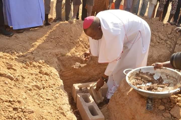 Catholic Bishop lays foundation of 86 IDPs housing units in Adamawa