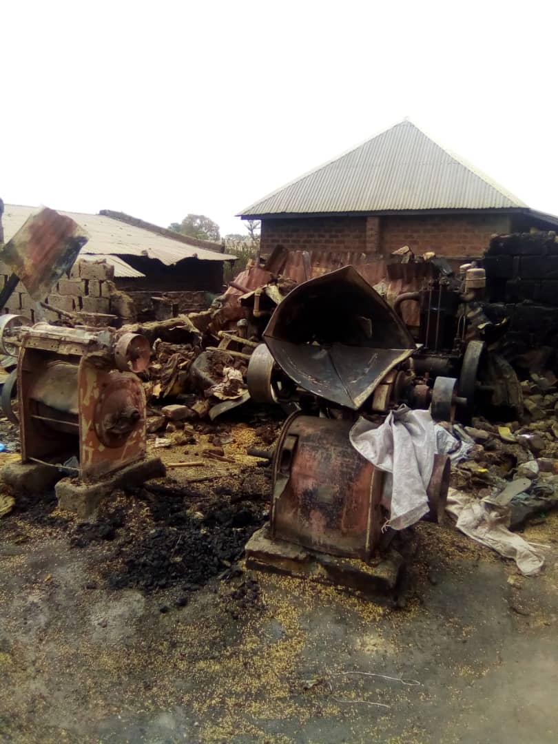 Breaking News: Fire engulfed Taraba Rice Mill, good worth millions of Naira destroyed