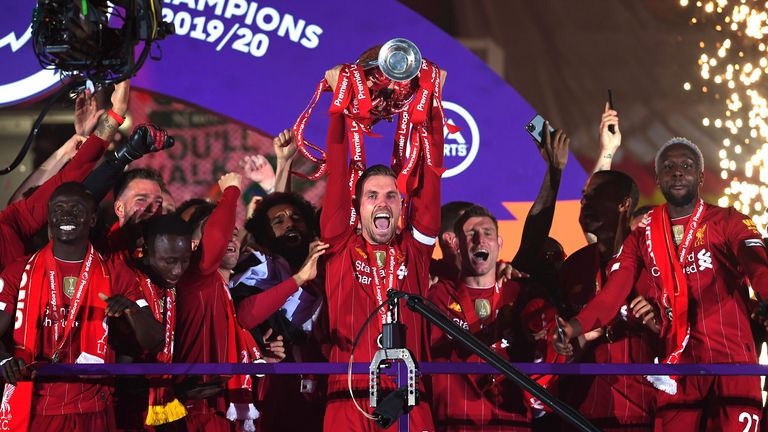 Liverpool lift Premier League trophy Sports