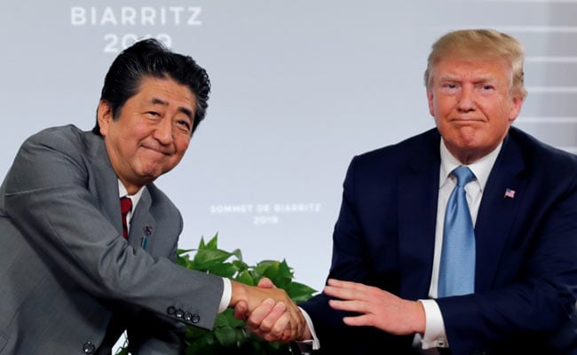 Trump lauds Abe as Japan's best-ever PM