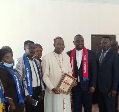 AS BISHOP DAMI RECEIVED PEACE AMBASSADOR AWARD,by Giwa