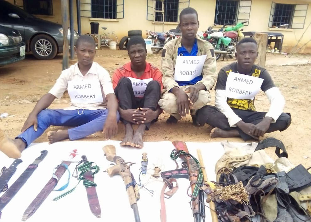 SARs in Adamawa arrests 7 armed robbers, recovers 2 motorcycles, Guns