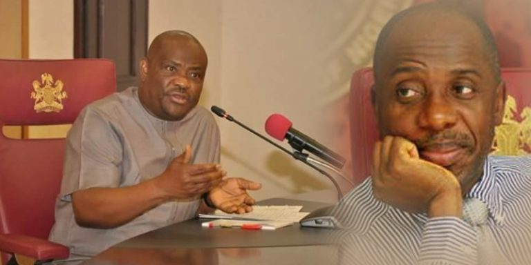 Wike, Amaechi in war of words at Supreme Court justice's burial
