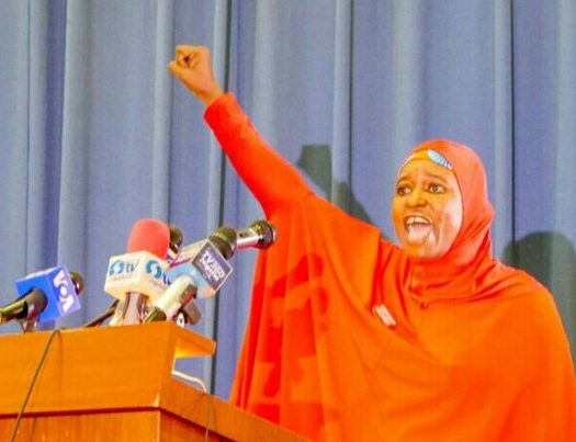 Let nothing, no one distract you, Aisha Yesufu tells #EndSARS protesters