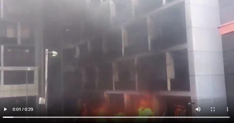 Nigerian Ports Authority set ablaze