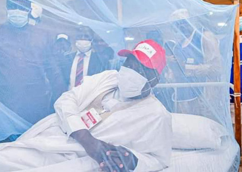 Free Distribution of 2.8 ITNs: Gov Fintiri demonstrated sleeping inside Mosquito net to fight Malaria