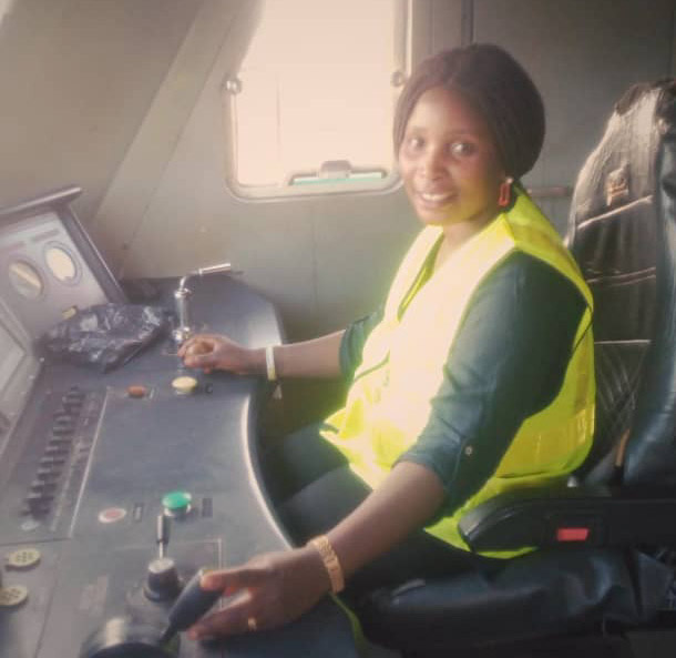 ADAMAWA BORN NIGERIA FIRST FEMALE TRAIN DRIVER CRIES FOR HELP