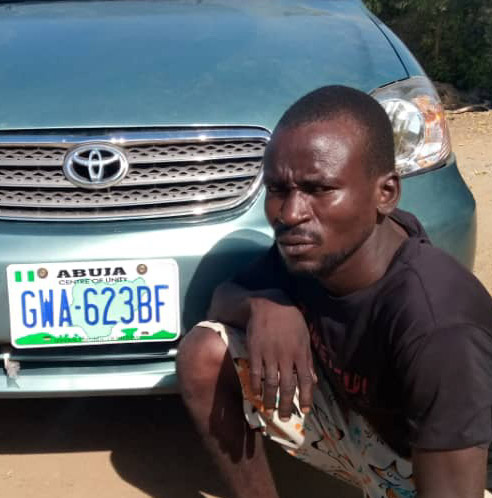 Police nab car snatcher in Yola, recover Toyota corolla  X with Reg No.GWA 623 BF