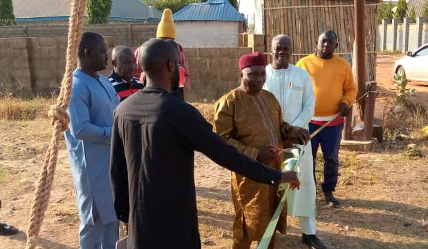 Sabo GRA President Commissions Culvert In Community, Tasks Zones on Self-help