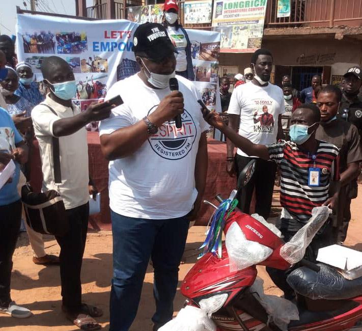 SMEs: Ex Football Star  ,Ekene Adams Commissions Empowerment Office in Kaduna