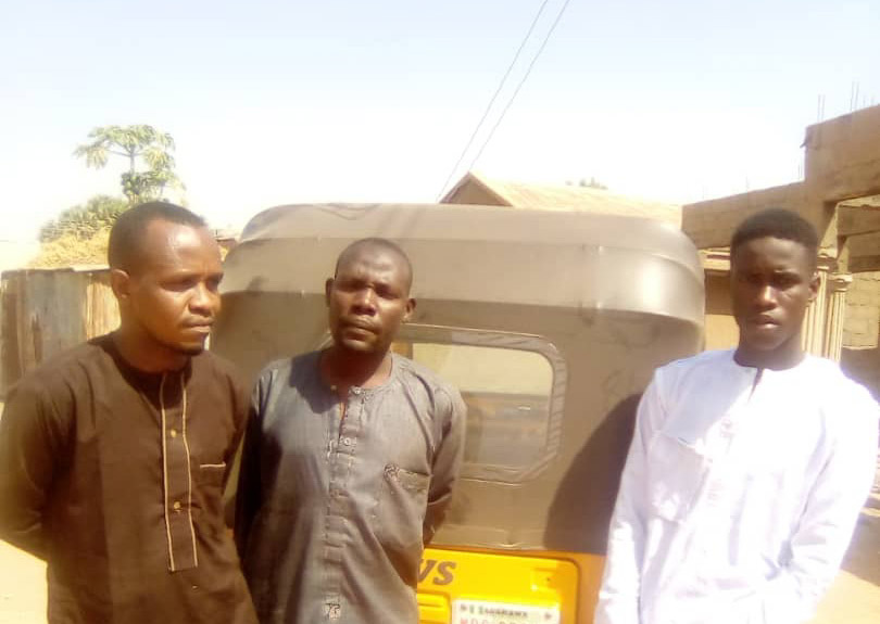 Adamawa police nab 3 Shila cult Boys in Yola, recovers tricycle,others