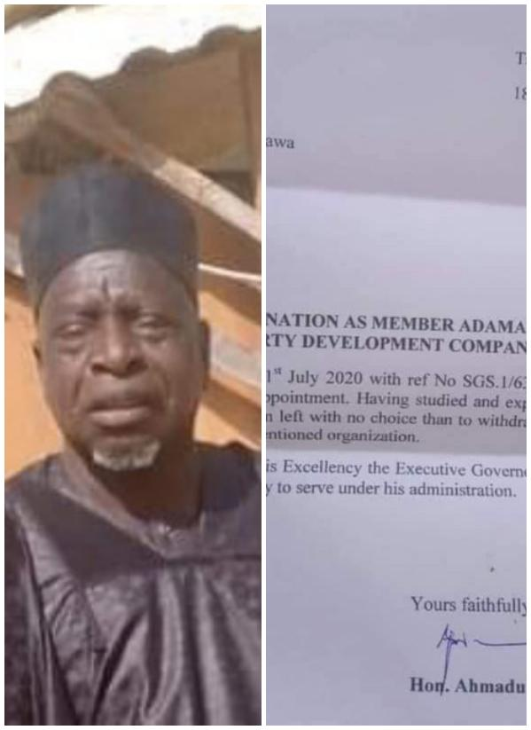 Administration of Gov Fintiri suffers another loss as board member resigns, dumps PDP for APC