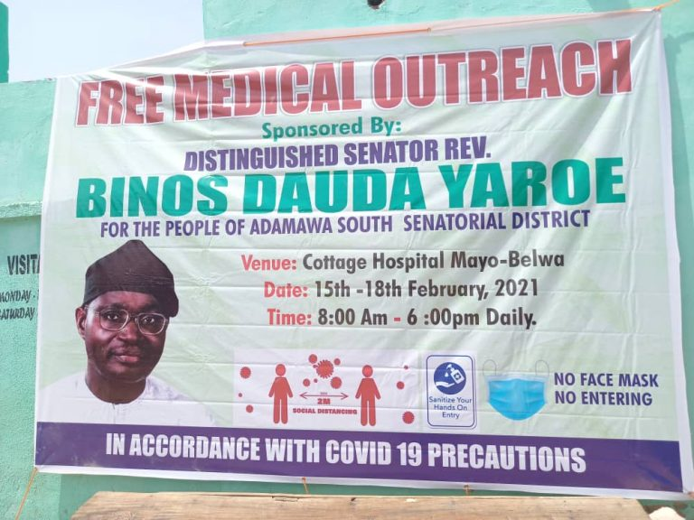 Medical outreach: Sen Yaroe targets 5,000 people in Adamawa Southern Zone