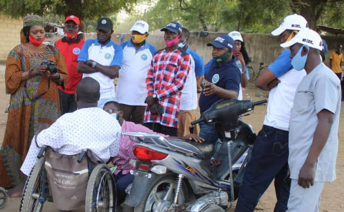 Valentine's day: Emnamu foundation donates cash to orphans, disabled persons, visits patients in Adamawa hospital