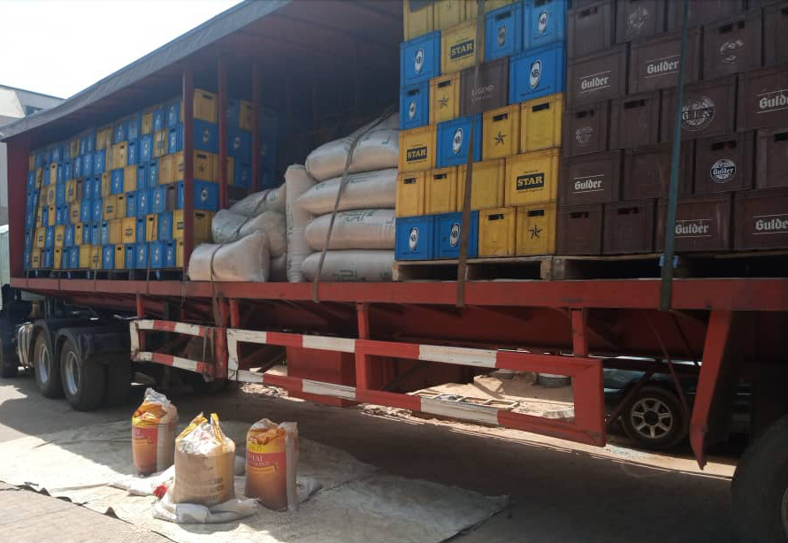 Smuggling: Truck with Contraband Goods belonging to Nigerian breweries intercepted by Customs