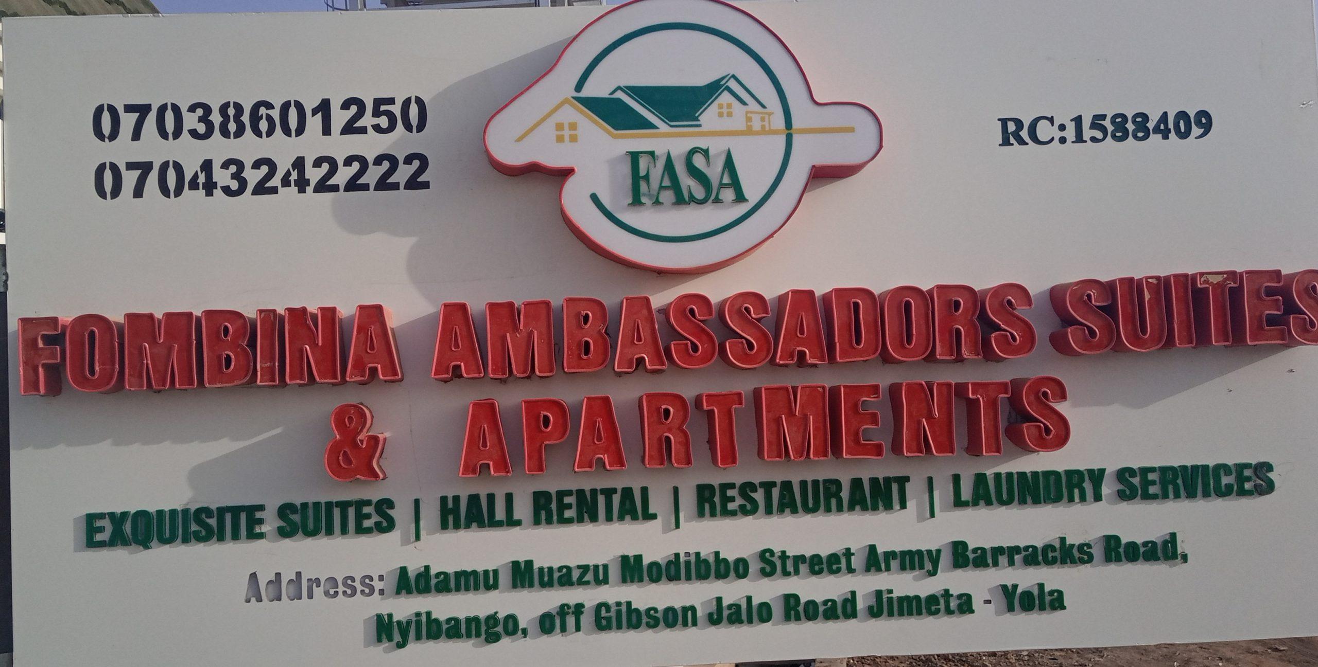 Fombina Ambassadors suites and apartments is a haven for Adamawa comfort-M D