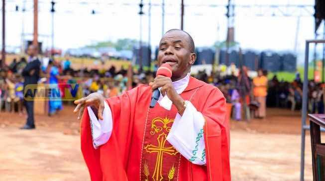 Insecurity: Mbaka blesses Nnamdi Kanu, lambasts Buhari, Uzodinma