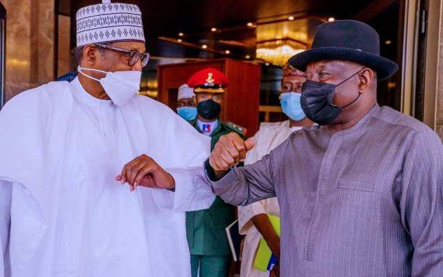 Just In: Buhari, Jonathan Meet In Aso Rock
