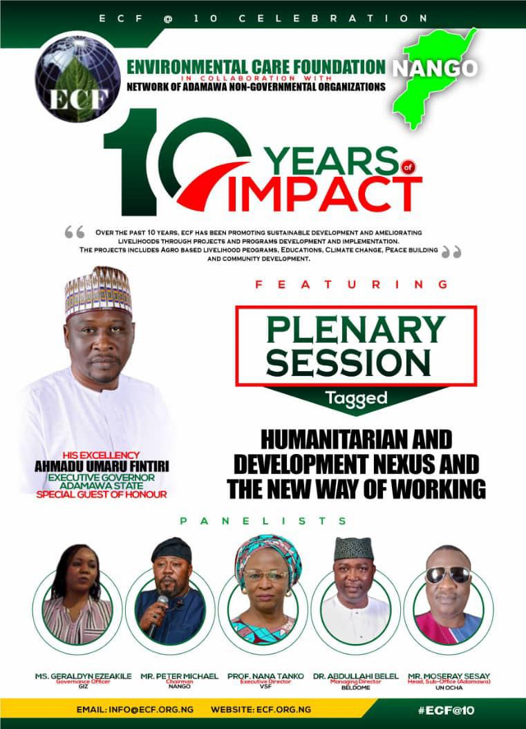 10 Yr anniversary: ECF set to Honor Fintiri, Marwa, Bishop Dami, Gambo Jika others to mark day