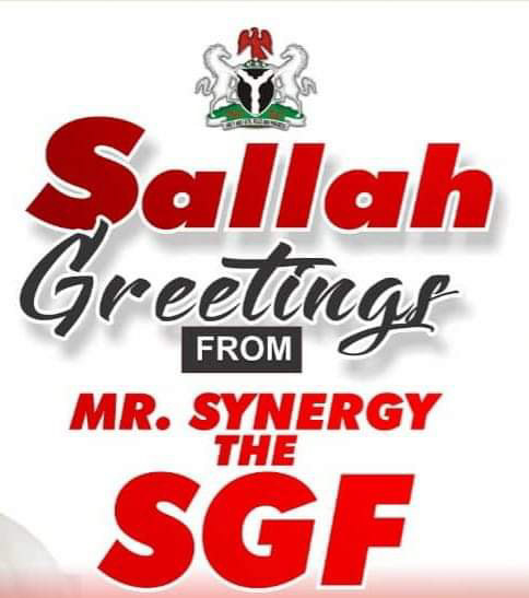 Eid-Fitr: SGF greet Muslim Ummah, urge them to use Ramadan lessons received to pray for Nigeria