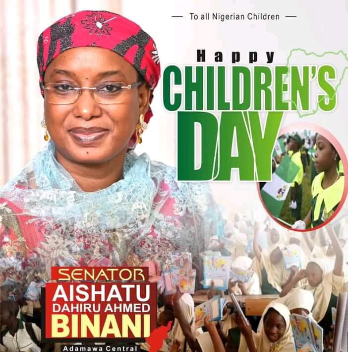 27th May: Sen Binani felicitates with Children, calls on leaders to redouble efforts to ensure quality edu' for all