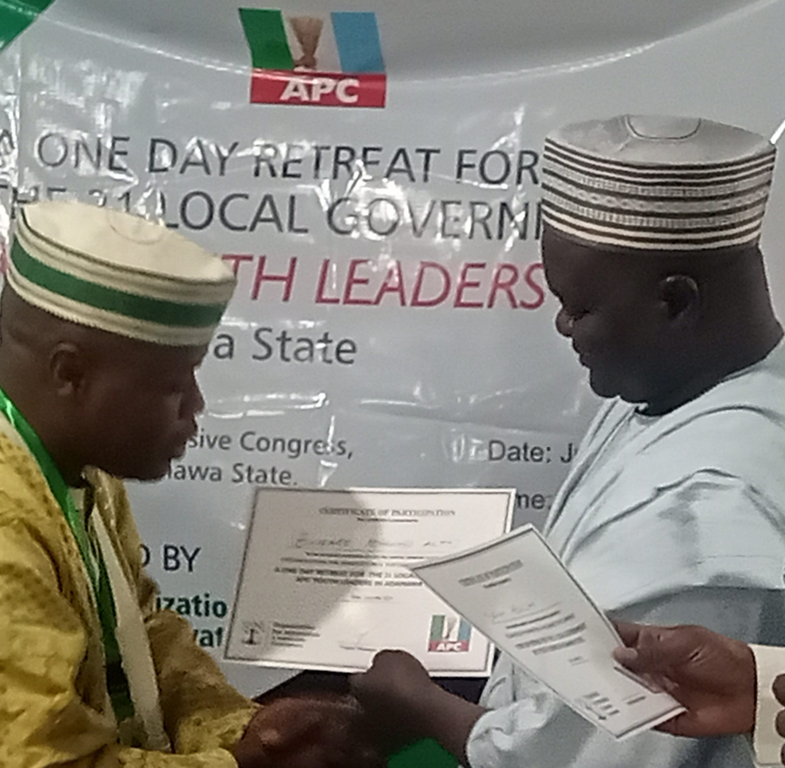 OISC trains Adamawa APC Youth Leaders on sustainable devt.