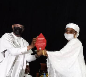 Development through legislation -Sen Binani receives SPC award