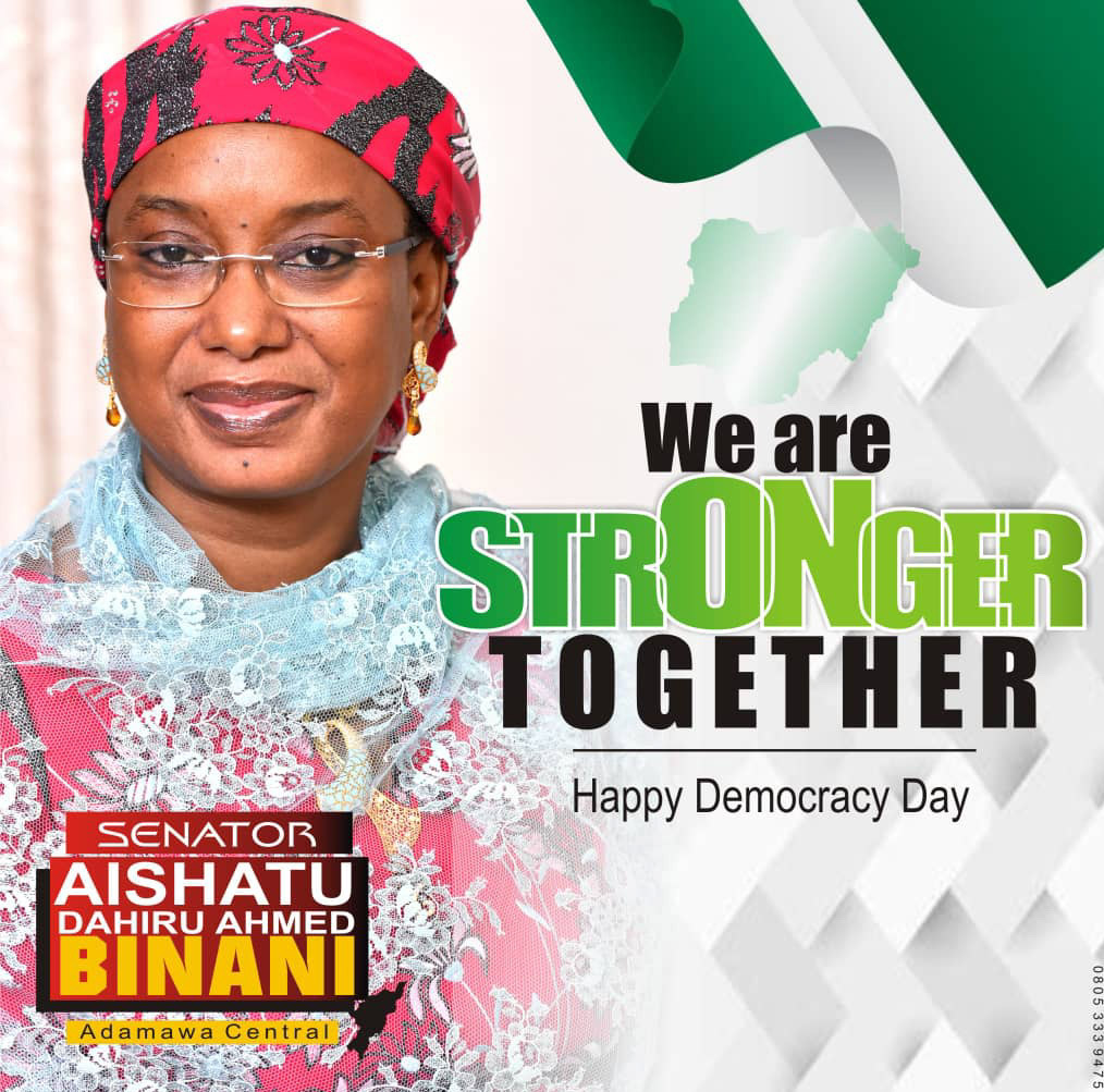 Democracy Day: it's time to preach for peace -Sen Binani
