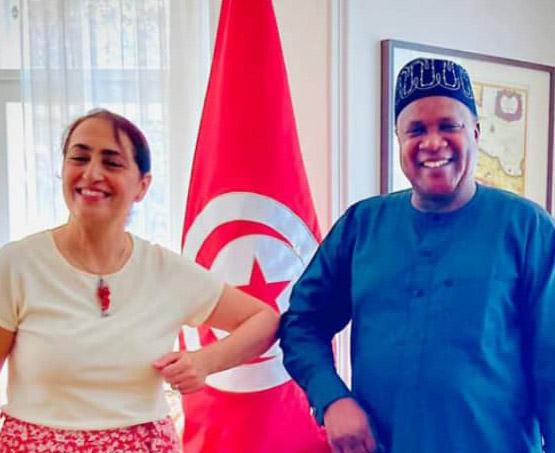 AMB KEVIN VISITS TUNISIA AMBASSADOR YORSA, DISCUSS AREAS OF MUTUAL INTEREST