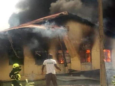 Breaking: Fire razes down part of Yola Specialists Hospital
