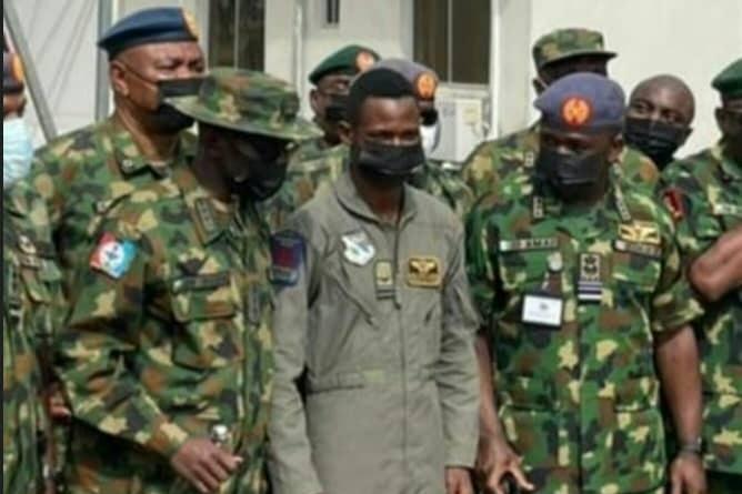 Brave NAF pilot survives air crash after crushing scores of bandits