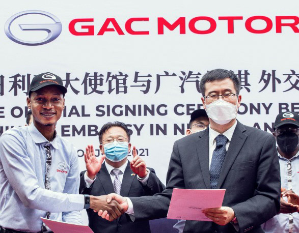 Chinese Embassy Supports Automobile Industry In NIgeria, Takes Delivery Of GAC Brand