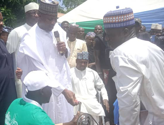 Wafari: Physically challenged persons receive tricycles from APC stakeholder