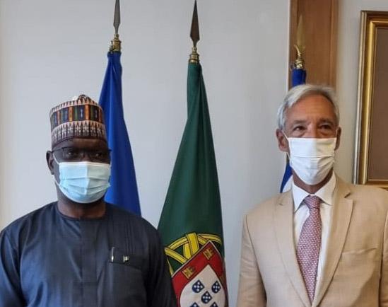 Nigerian Ambassador to Portugal, Alex E Kefas meets Defence Minister, Joao Gomes Cravinho