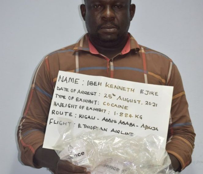 NDLEA arrests 41-year-old man for ingesting 87 wraps of cocaine