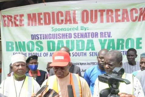 NARD strike: Over 7000 Patients benefit from Sen. Binos's free medical outreach In Adamawa