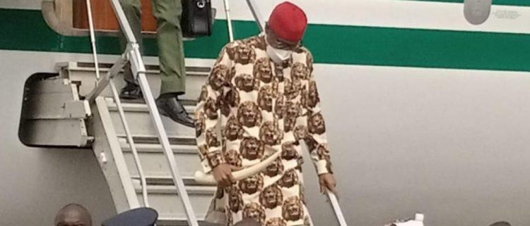Buhari arrives in Imo amid IPOB's threat