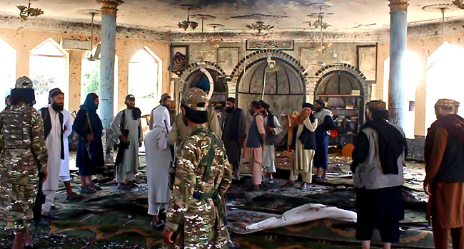 Suicide bomber kills at least 55 at Shiite mosque in Afghanistan