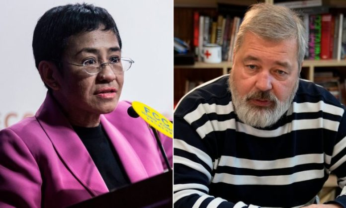 Two journalists win Nobel Peace Prize for freedom of expression
